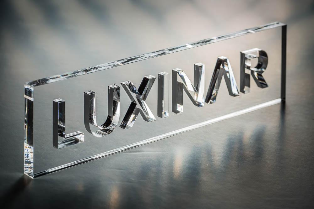 Laser-cut acrylic logo