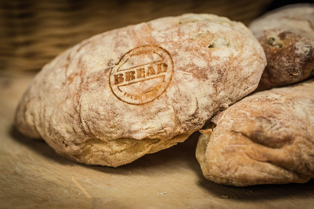 Laser-marked bread roll