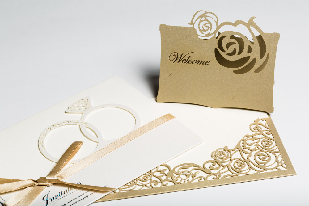 Stationery with laser-cut pattern