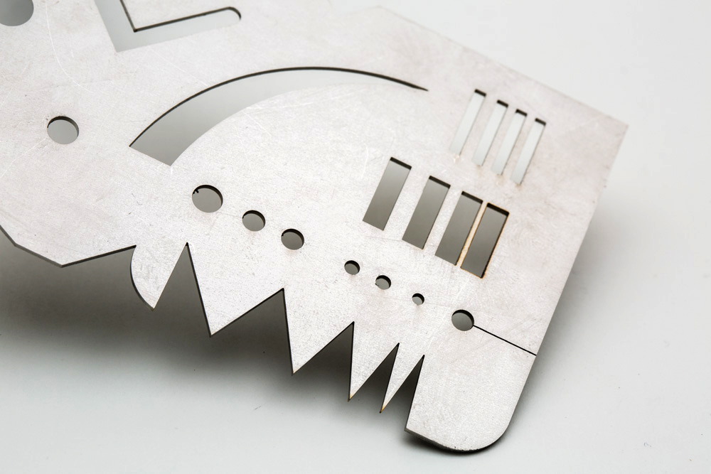 Laser-cut stainless steel