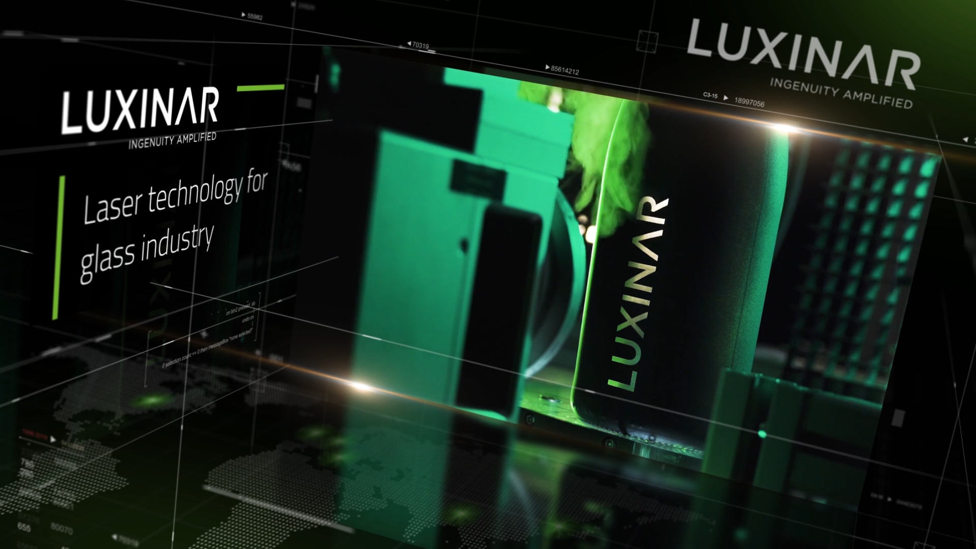 Luxinar laser technology for the glass industry