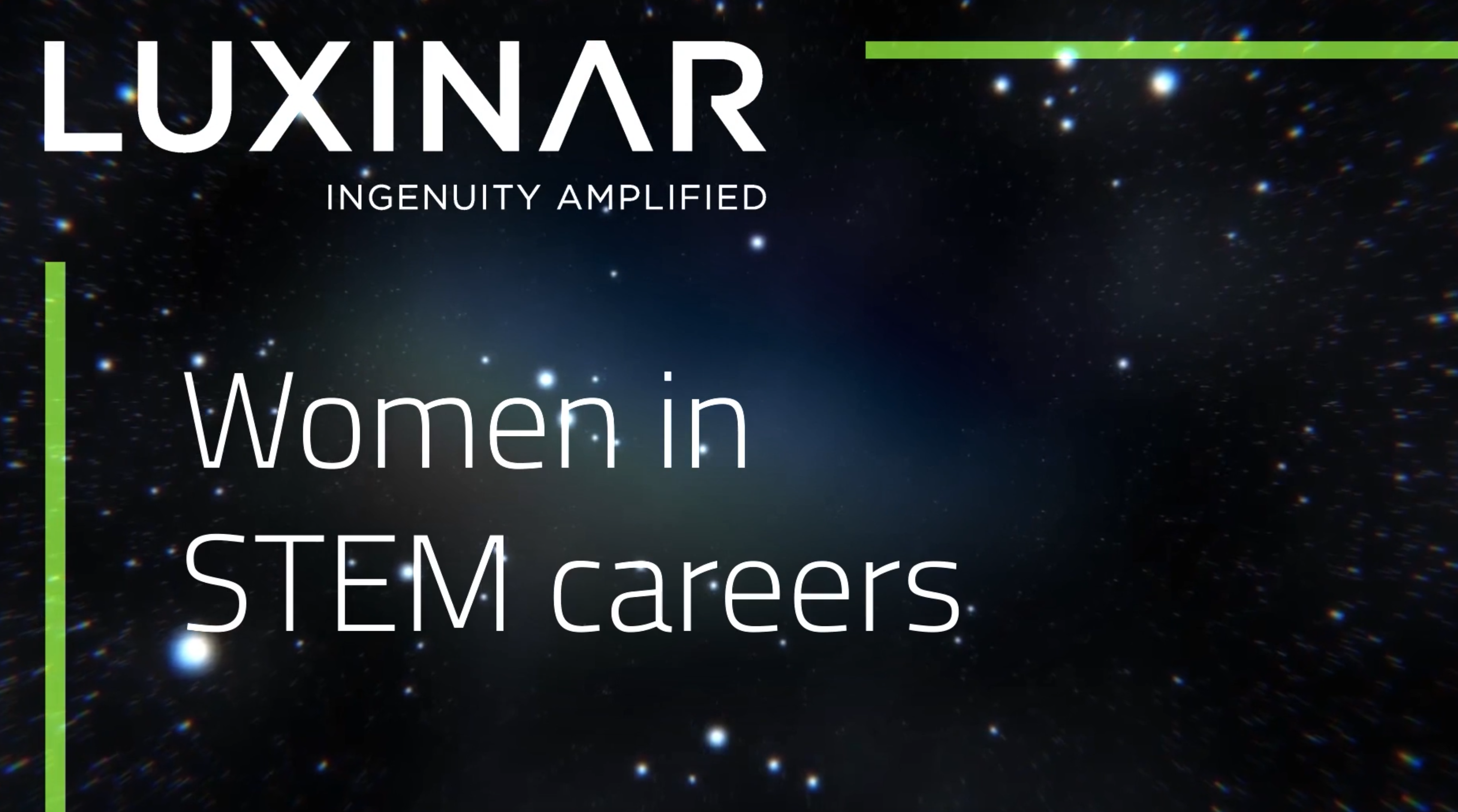 Luxinar supports women in STEM careers video