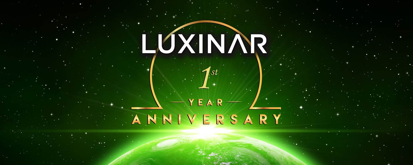 Luxinar 1st year anniversary image