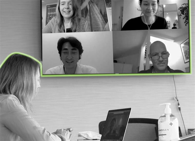 Luxinar colleagues from around the world holding a video meeting using Microsoft Teams.