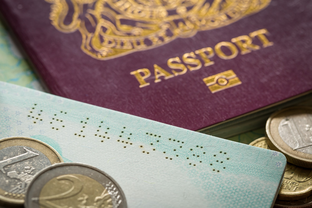 Laser perforation of passport pages